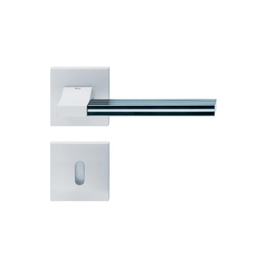 Witte deurkruk 'Change02 + ins03'  met bijhorende sleutelplaatjes