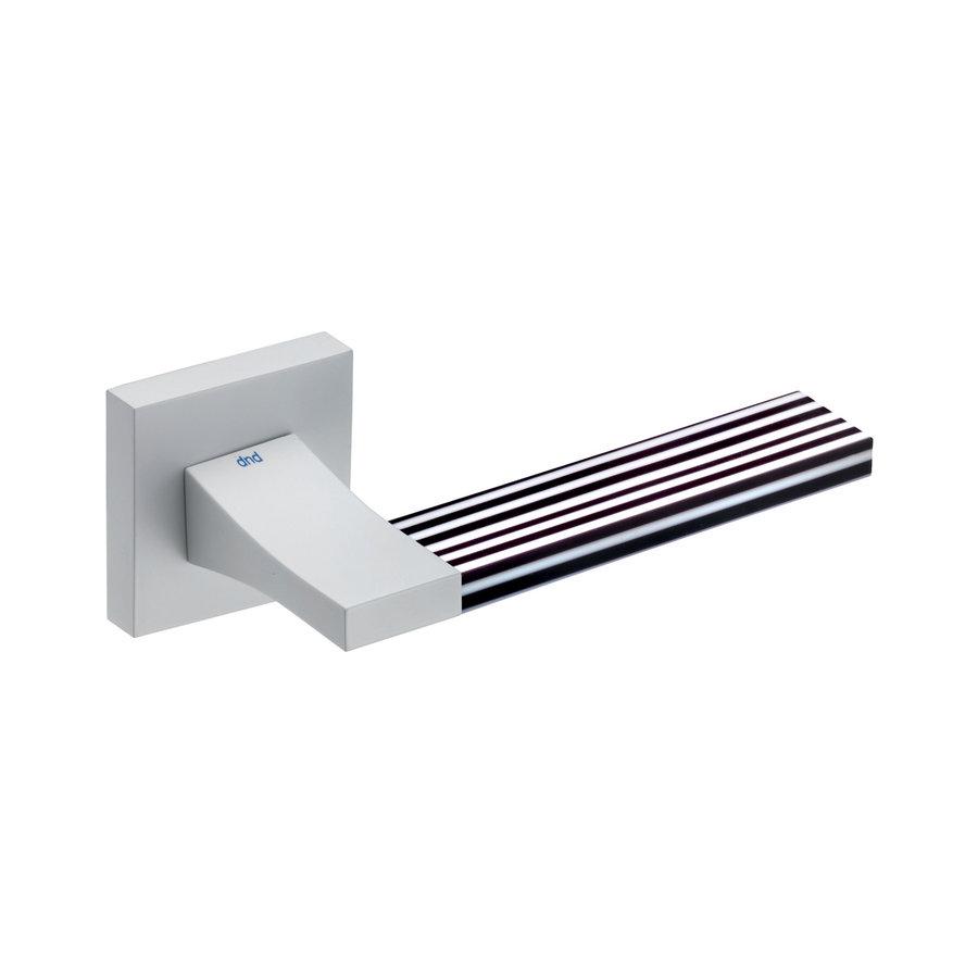 Witte deurkruk 'Change02 + ins07'  met bijhorende sleutelplaatjes