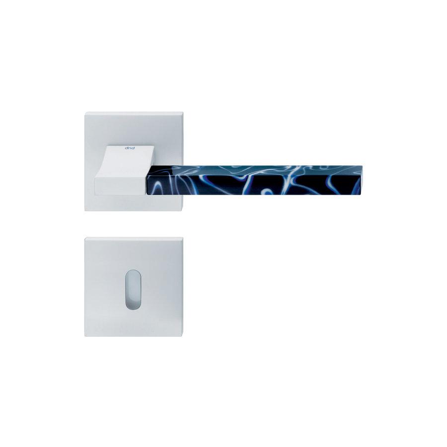 Witte deurkruk 'Change02 + ins14'  met bijhorende sleutelplaatjes
