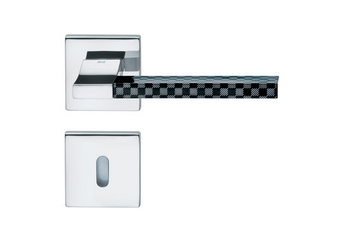 DnD Polished Chrome Door Handles 'CHANGE02+INS07' with BB