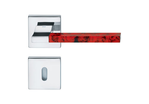 DnD Polished Chrome Door Handles 'CHANGE02+INS12' with BB