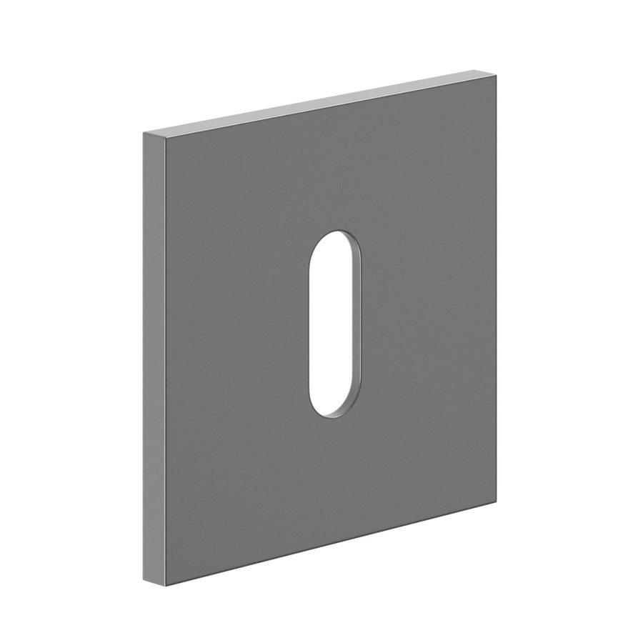 Pair of key plates for door handle 'Luxury' black