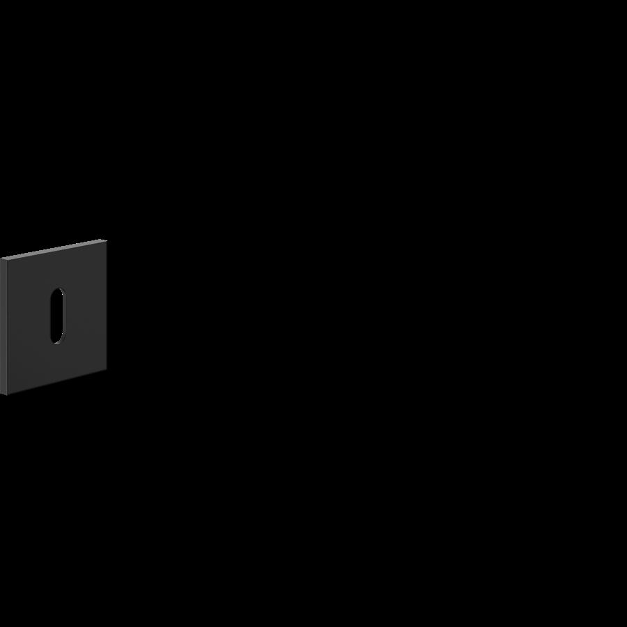 Paar sleutelplaatjes voor deurklink 'Luxury' zwart