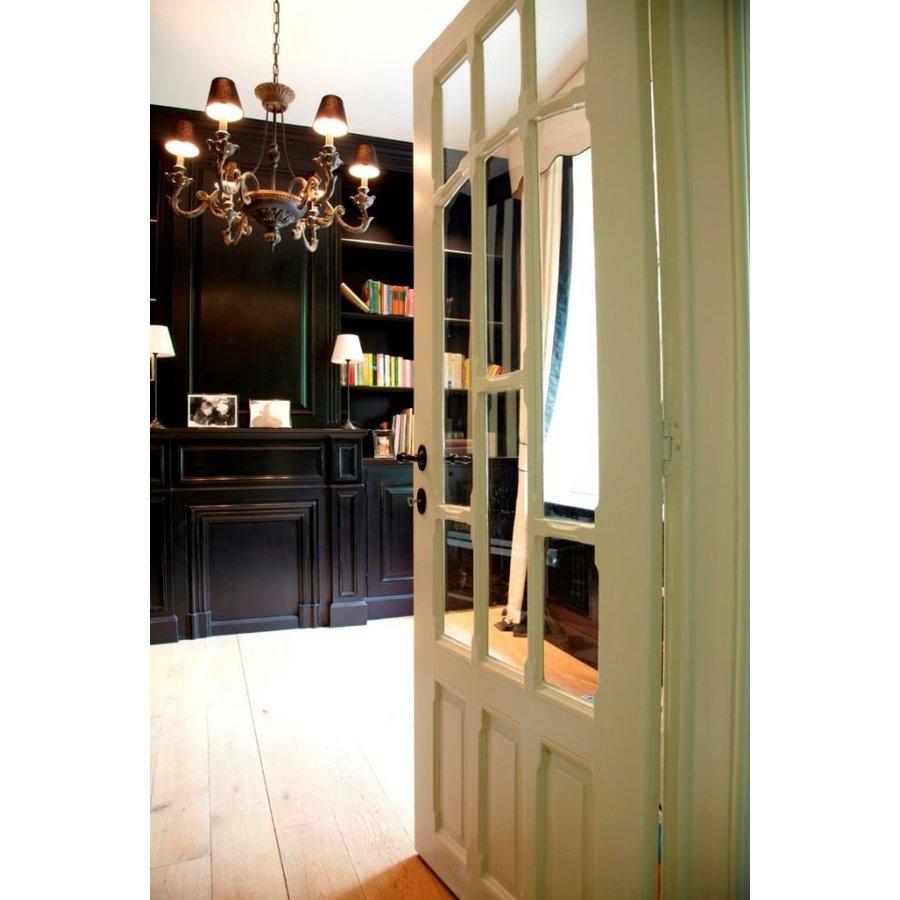 Paar deurklink BE1212/R1508 BDC zwart (N) zonder BB 115mm