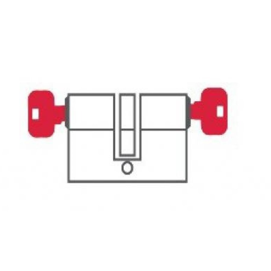 DOM standaard voorraadcilinder K1 met DUO functie
