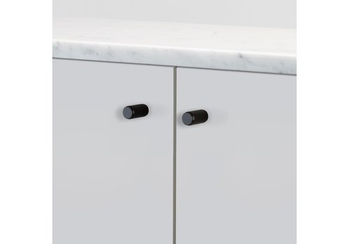 Buster + Punch pair of furniture knobs linear black