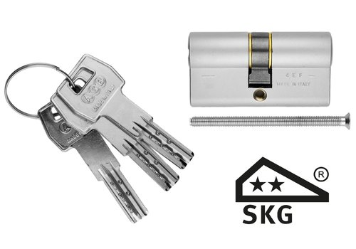 AGB cylinder safety stainless steel look SKG **