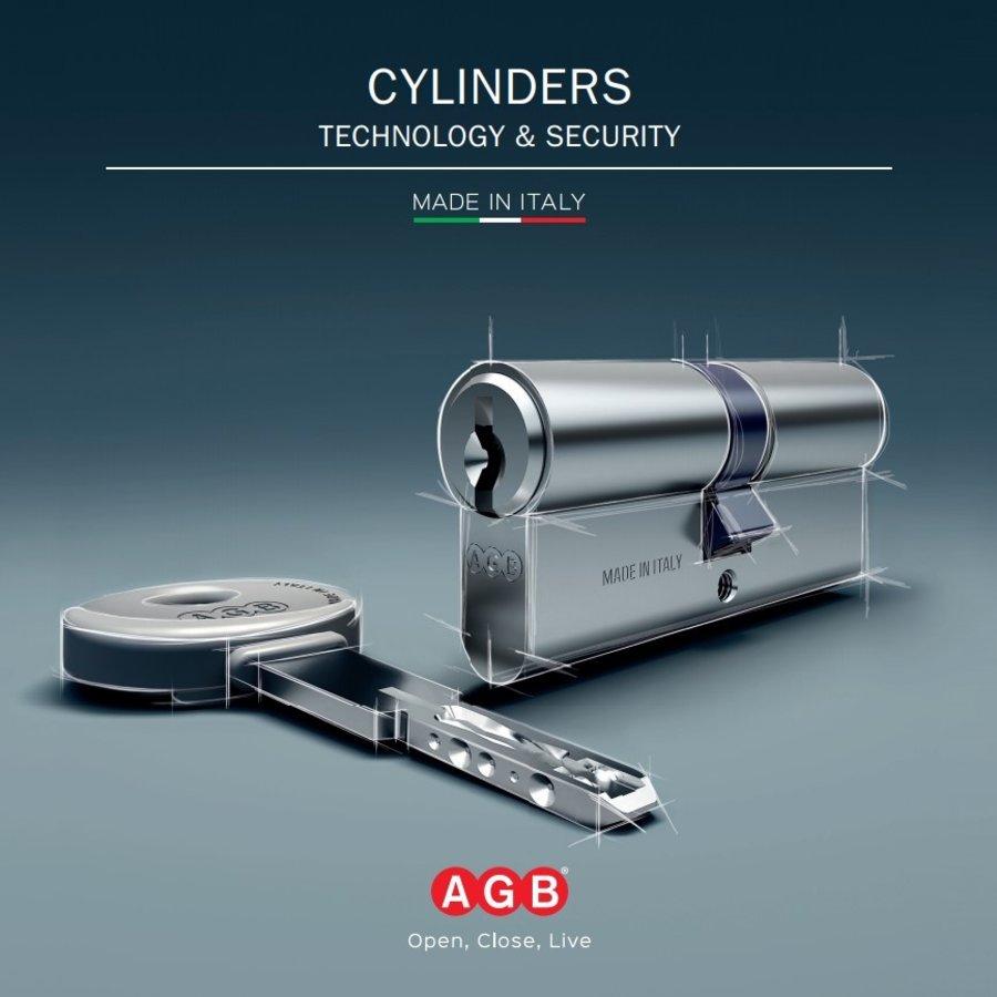 AGB knopcilinder veiligheid RVS look SKG**