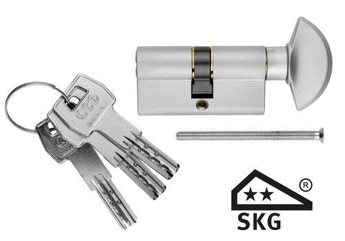 AGB bouton cylindre sécurité aspect inox SKG **