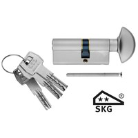 AGB knob cylinder safety stainless steel look SKG **