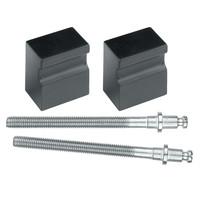 Zwarte deurknop 'Top X-treme' paar voor deurdikte 30mm-100mm