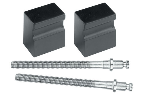 Black knob 'Top X-treme' pair of door> 3cm