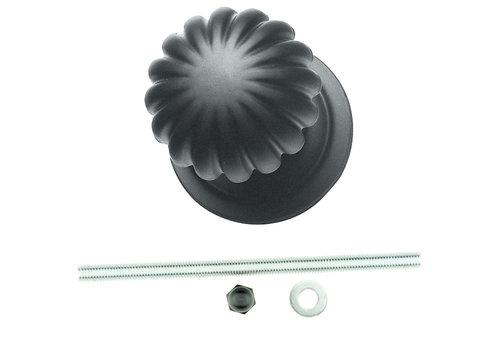 Black button 'Top Mandarin' matt black
