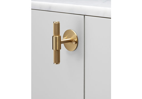 Furniture handle T-BAR large rosette BUSTER & PUNCH brass