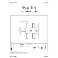 T-BAR / GROOT ROZET / MESSING / BUSTER+PUNCH