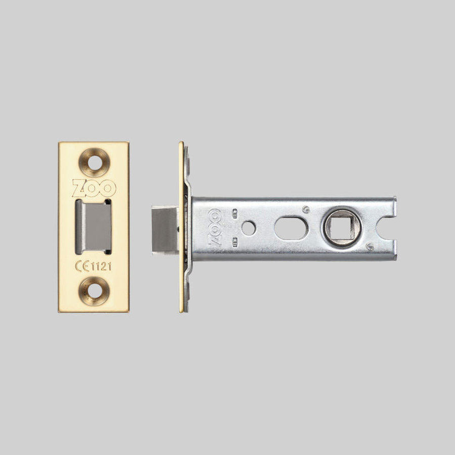 Small lock with brass front plate 25x60mm and mandrel 57mm