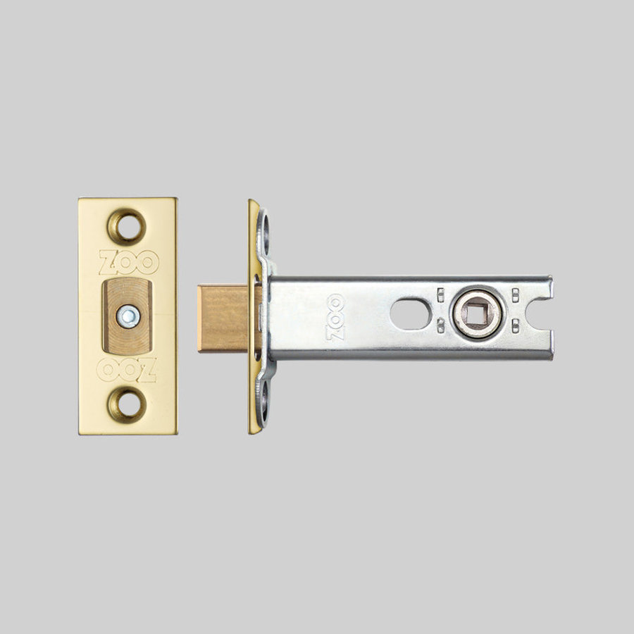 Small toilet lock with brass front plate 25x60mm - mandrel 57mm - pin hole 5x5mm