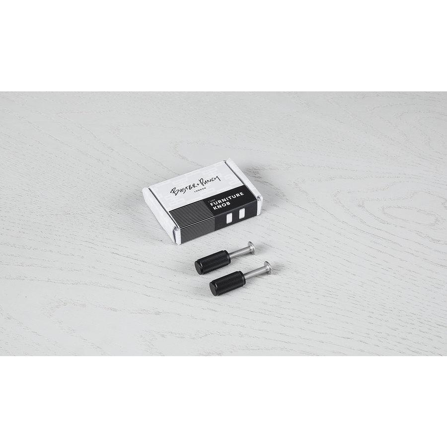 Buster + Punch meubel knop (paar) lineair zwart