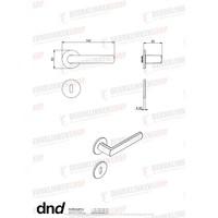DnD deurklinken 'Luce 4mm' zwart op rond geveerd rozet van 4mm zonder sleutelplaatjes