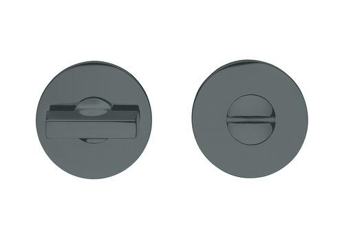 WC Garnituur IKI 7mm zwart rond