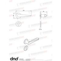 Paar zwarte cilinderplaatjes 7 mm voor DND deurkruk IKI