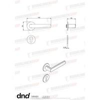 DND paar zwarte cilinderplaatjes 4 mm voor deurkruk Luce