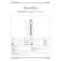 BUSTER LED LAMP / CRYSTAL / E27 / DIMBAAR