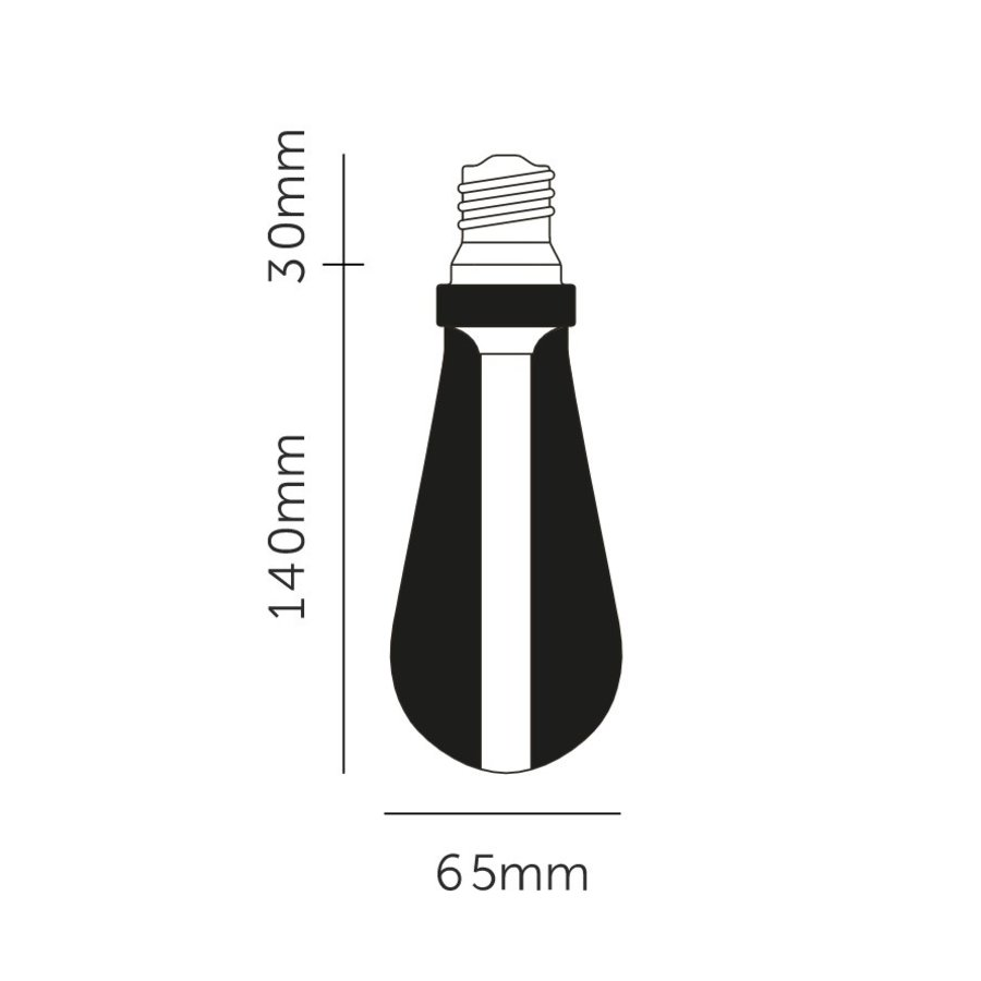 BUSTER LED LAMP / GOLD / E27 / DIMBAAR