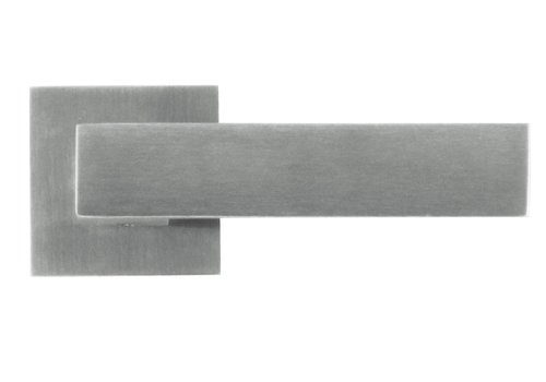 Solid stainless steel door handles 'Square 1' without BB