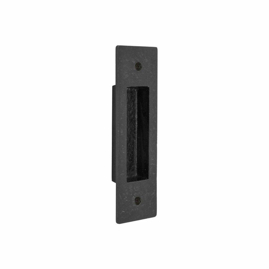 Stuk schuifdeurkom PSS verouderd ijzer zwart (VO) 150 x 45 mm