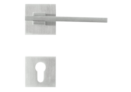 Stainless steel door handles 'Square 3' with PZ