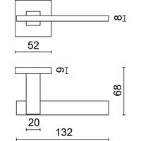 RVS deurklinken 'Square 3' met cilinderplaatjes