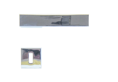 Poignées de porte chromées X-Treme avec plaques à clés