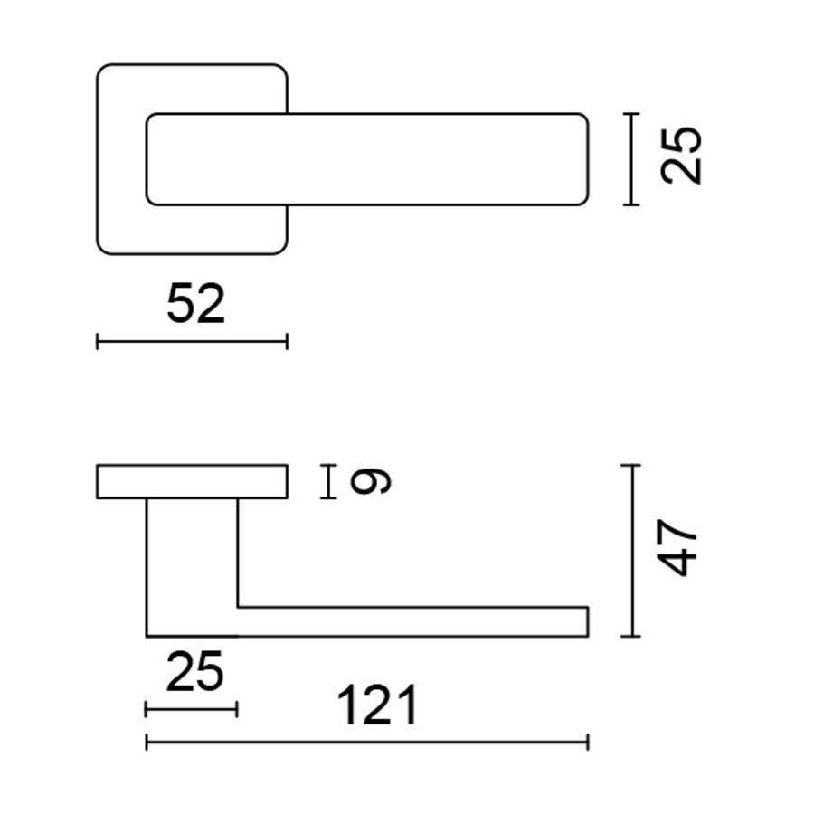 RVS deurklinken Rondi met sleutelplaatjes