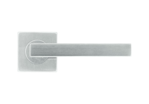 Poignées de porte en acier inoxydable forme Kubic 16 mm sans clé
