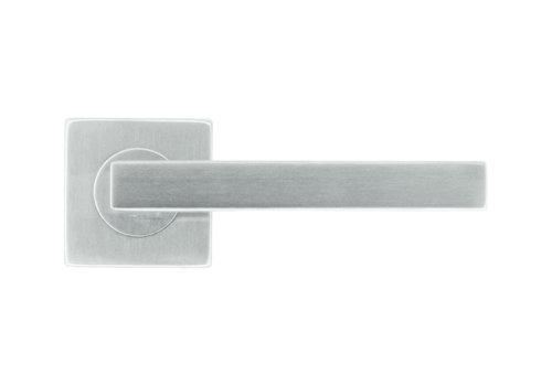 Stainless steel door handles Kubic shape 16 mm no key