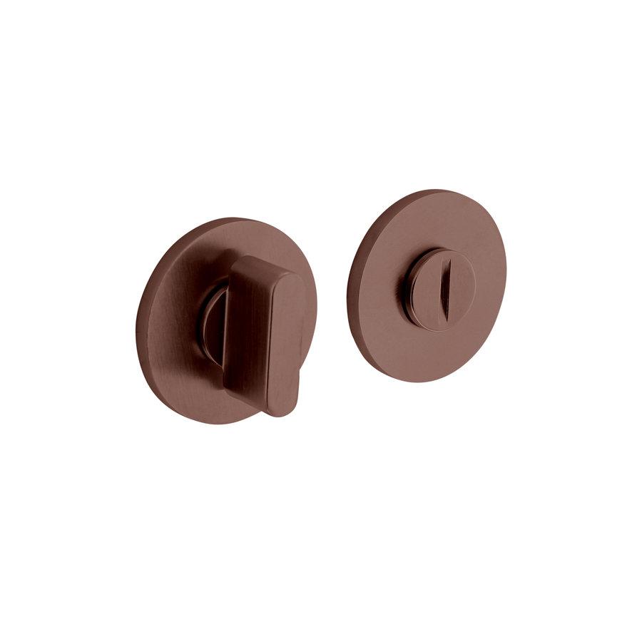 Olivari rozet toilet-/badkamersluiting rond brons mat titaan PVD