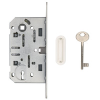Lock magnet AGB 195x22mm front plate white 90mm
