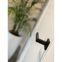 Zwarte deurklinken Marbella met structuurlak