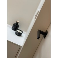 Black door handles Marbella with structured lacquer