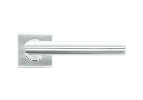 RVS deurklinken flat square I-shape 19mm No key