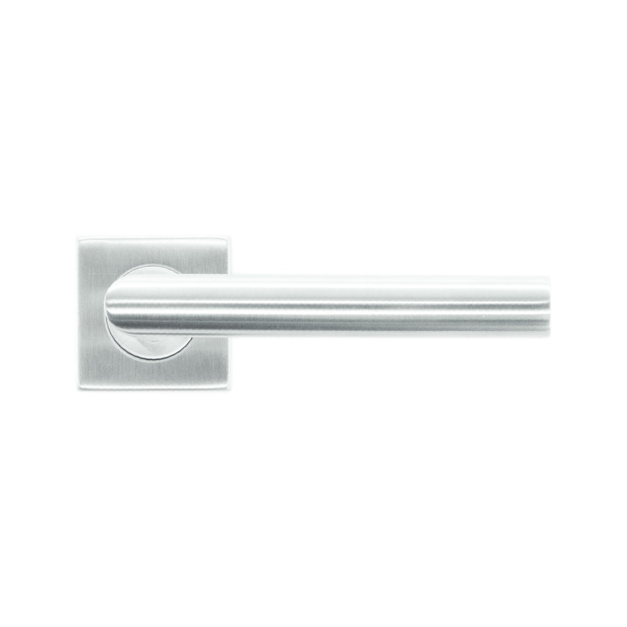 Stainless steel door handles flat square I-shape 19mm No key