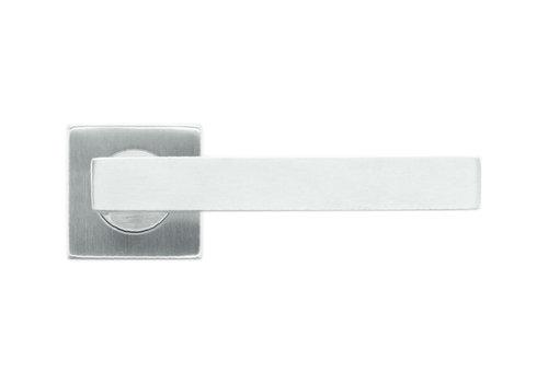 Deurklinken flat kubic shape 19mm inox plus no key