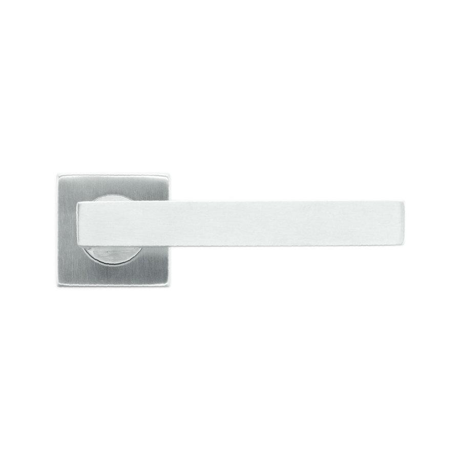 Door handles flat cubic shape 19mm stainless steel plus no key