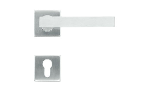 Door handles flat kubic shape 19mm stainless steel plus + cyl