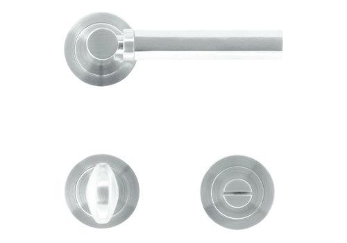 Door handles Sixa stainless steel look + toilet