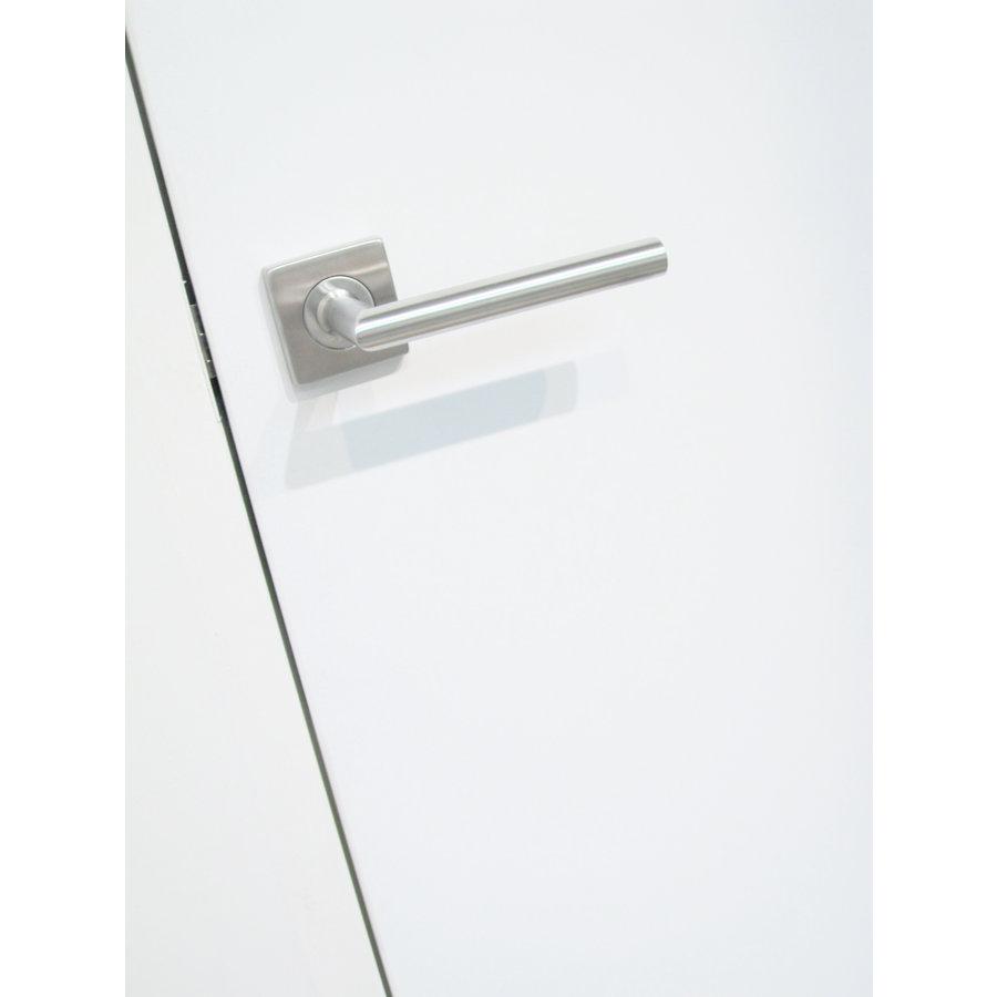 RVS deurklinken Square I shape 19 mm met sleutelplaatjes