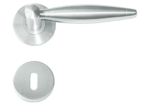RVS deurklinken Saturnus met sleutelplaatjes