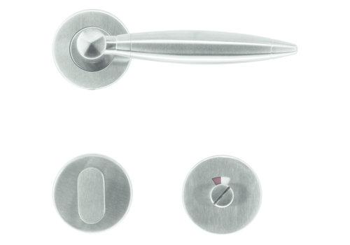 Poignées de porte Saturn en acier inoxydable plus + toilettes