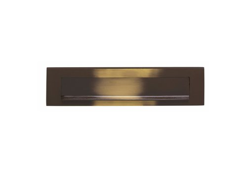 Intersteel Letterbox with flap / rain rim burnished brass